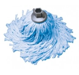 Refil 30cm Mopinho Azul Hexagonal -Cód. BR30AZ - Bralimpia