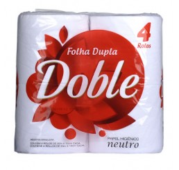 Pacote - Papel Higiênico Doble Folha Dupla com 4 unidades