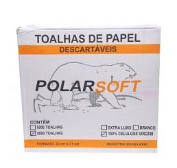 Papel Toalha Polar 2 Dobras com 4800 folhas 100%Celulose Virgem