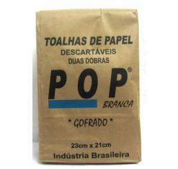 Papel Toalha 2 Dobras Branco POP
