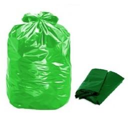 Saco para Lixo 100 LT Verde - pacote - P4