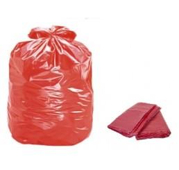 Saco para Lixo 60 LT Vermelho - pacote - reforçado