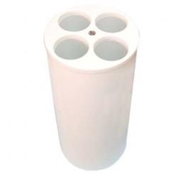 Lixeira para copos Branca com 4 furos  - Cód DC51BR - Bralimpia