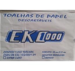 Papel Toalha EKO100 com 1000 Folhas 2 Dobras