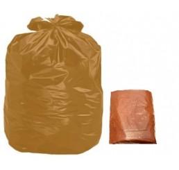 Saco para Lixo 100 LT Marrom - pacote