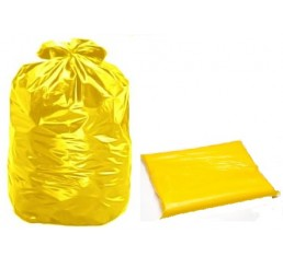 Saco para Lixo 40 LT Amarelo - pacote