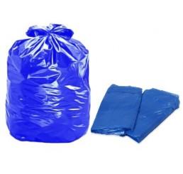 Saco para Lixo 60 L Azul - pacote - reforçado