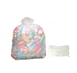 Saco para Lixo 60 LT Transparente - pacote